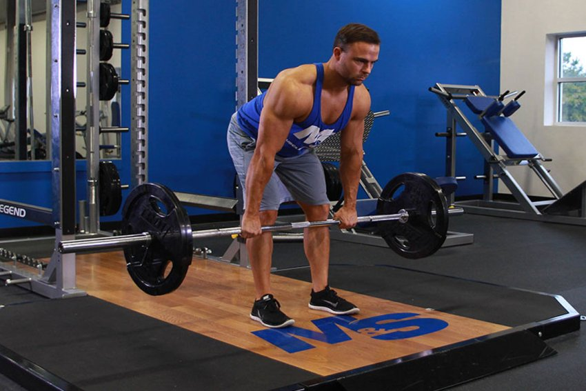 Становая тяга на прямых ногах техника