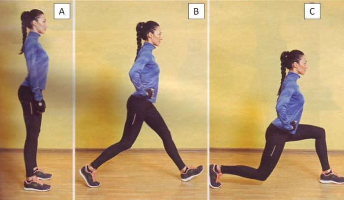 Упражнения на ноги: выпады