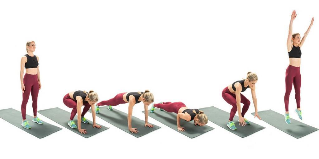 Берпи: преимущества, работающие мышцы, техника выполнения